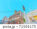 [アニメ風] 北海道函館 函館朝市周辺の風景 71503175