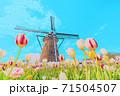 [アニメ風] 日本の春 佐倉のチューリップ畑 71504507