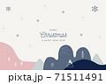 背景 クリスマス 装飾品 71511491