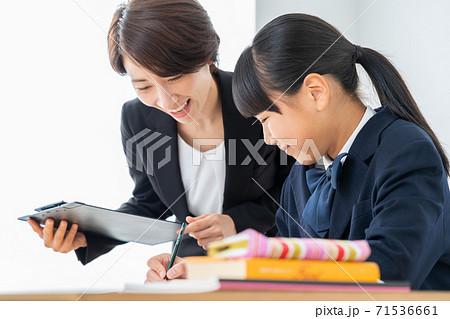 中学生 高校生 女性 勉強 受験 教育 学習 71536661
