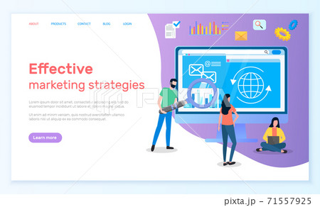 Effective marketing strategies landing page with team of analysts develop a plan to increase sales 71557925