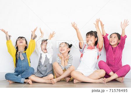 Group of kid, happy 71576495
