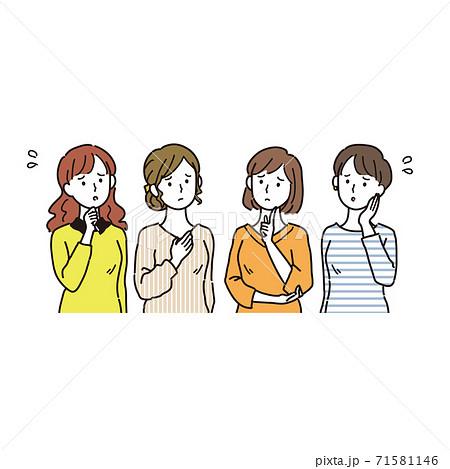 心配する複数の女性 71581146