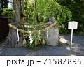 穂高神社(仁王石) 71582895