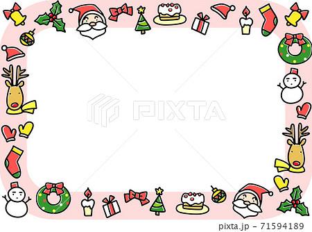 クリスマスイメージのフレーム 71594189
