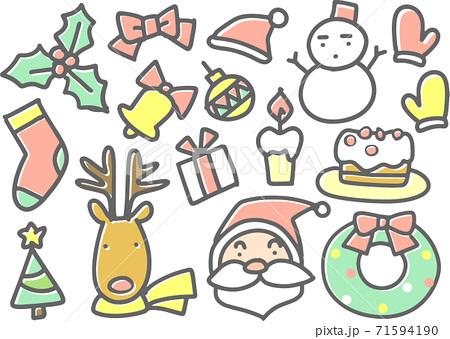 クリスマスイメージのパーツ 71594190