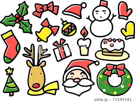 クリスマスイメージのパーツ 71594191