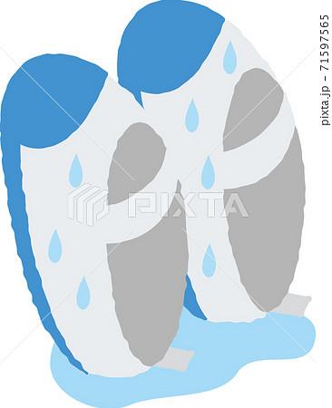 なかなか乾かない上履き 71597565