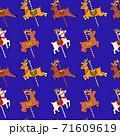 cute reindeer character seamless pattern 71609619