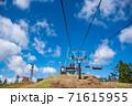 滋賀県高島市 びわこ函館山山頂のリフト 71615955