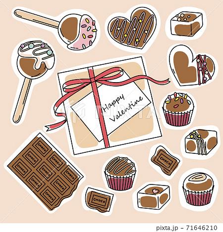 バレンタインチョコレート ラフ塗り 71646210