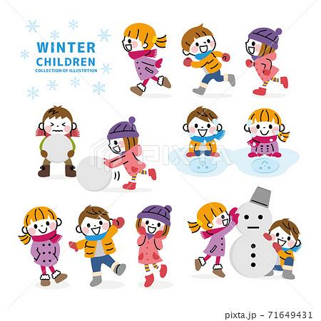 冬の子どもセット 71649431