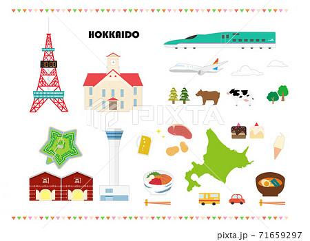 北海道の名所、名産、観光セット 71659297