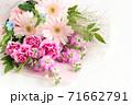 ガーベラとカーネーションの花束 71662791