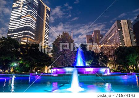 《東京都》日比谷の夜景・都市風景 71674143