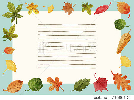 Thanksgiving background with space for text, card and banner with autumn leaves and vegetables illustration 006 71686136