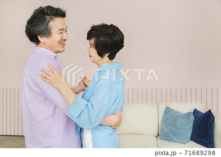 Happiness people lifestyle, Asian senior couple 329 71689298