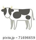 ホルスタイン牛 71696659
