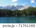 ドロミテ カレッツア湖 71701166