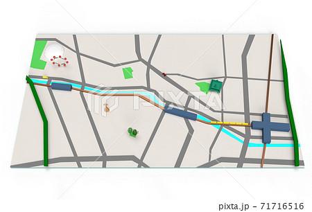 シンプルパースマップ 千代田区・文京区付近 71716516