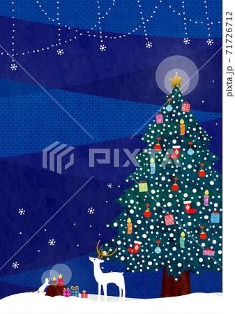 クリスマス背景7文字なしテク 71726712