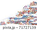 御所解 横 青 紺 藍色 71727139