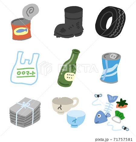 ゴミの分別 燃えるゴミや燃えないゴミと缶瓶 71757581