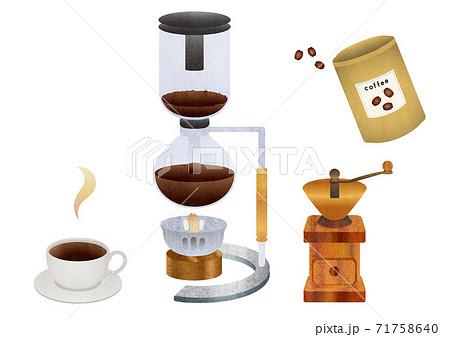 サイフォン式コーヒーの器具セット 71758640