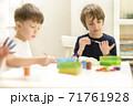Kid Painting at Kindergarten 71761928