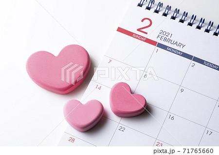 バレンタインデーカレンダー2月14日 71765660