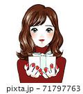 女性がプレゼントを贈る 71797763