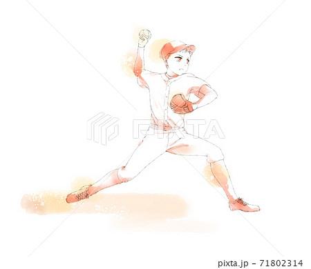 野球 ピッチャー 71802314