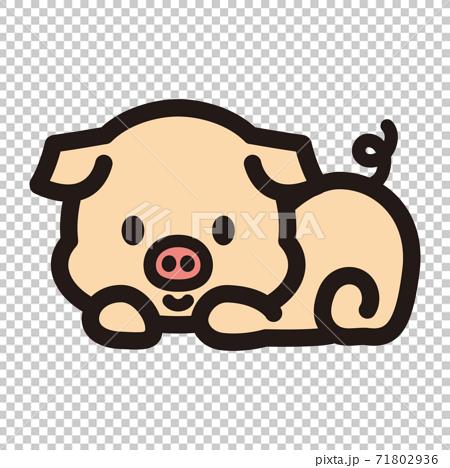 可愛的小豬角色 71802936