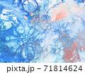 アルコールインクアート 水彩 水色&カッパー 71814624