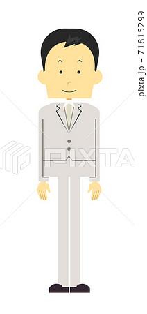 白いスーツ姿の男性 新婚 71815299