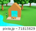 クレイアニメの背景風な世界:アウトドアシーン 71815629