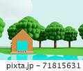 クレイアニメの背景風な世界:アウトドアシーン 71815631