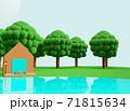 クレイアニメの背景風な世界:アウトドアシーン 71815634