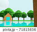 クレイアニメの背景風な世界:アウトドアシーン 71815636
