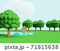 クレイアニメの背景風な世界:アウトドアシーン 71815638