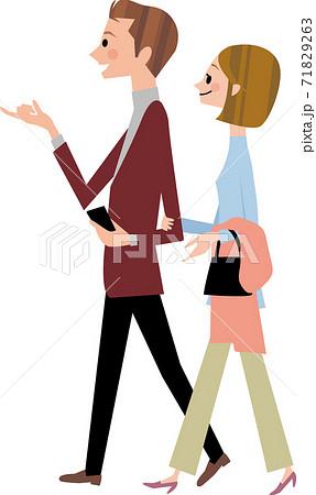 若いカップルのデート 71829263