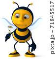 Fun bee - 3D Illustration 71845517