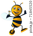 Fun bee - 3D Illustration 71845520