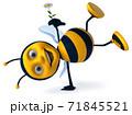 Fun bee - 3D Illustration 71845521