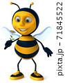 Fun bee - 3D Illustration 71845522