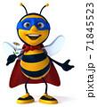 Fun bee - 3D Illustration 71845523