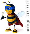 Fun bee - 3D Illustration 71845524