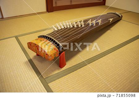 畳の上に置かれた箏 71855098