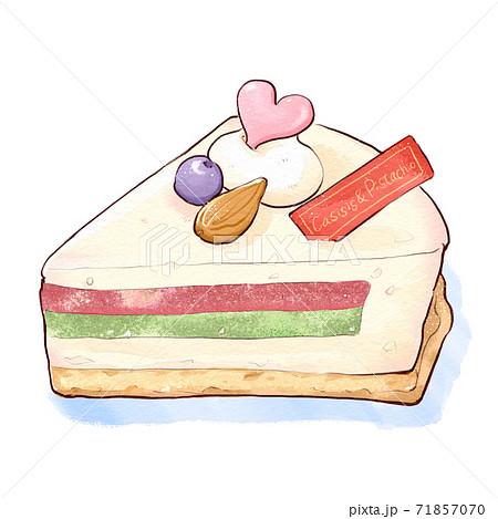 ラズベリーとピスタチオのホワイトチョコケーキ 71857070