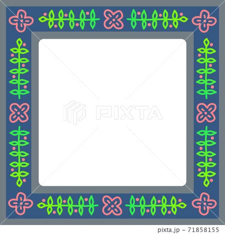 秋冬イメージの植物模様のフレーム 71858155
